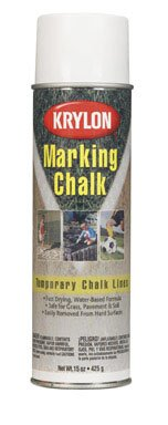- 15 Oz White Marking Chalk Spray Paint [Set of 6]