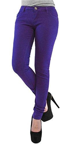 Pantalón pitillo/jegging elástico, tallas UK 8–�?6 morado