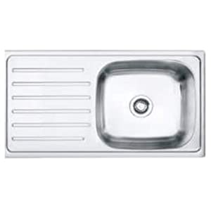 CROCODILE 304 Grade Stainless Steel Single Bowl Kitchen Sink with Drain Board (37 x 18 x 8 Inches)