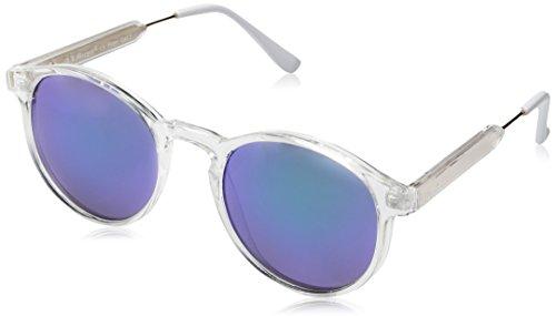 A.J. Morgan Jam Oval Sunglasses, Crystal/Mirror, 50 mm