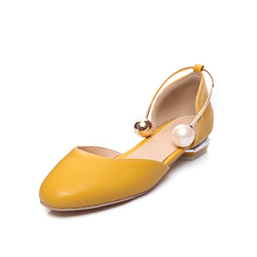 Piatto giallo amp;X Informale QIN Tacco Donna Sandali wY8qUx