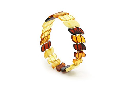 - Genuine Natural Baltic Multicolored Stretch Amber Bracelet