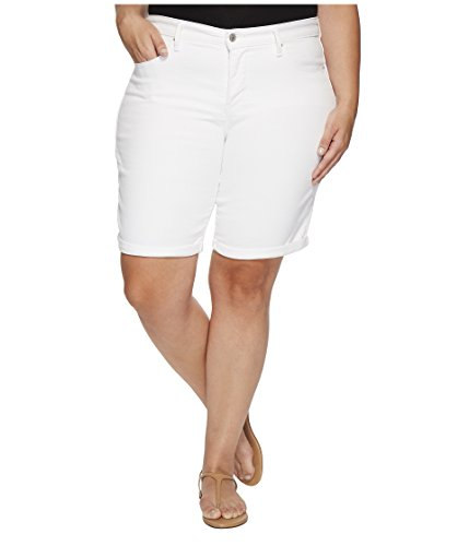 Levi's Women's Plus Size Shaping Bermuda Shorts, Soft Clean White, 38 (US 18)