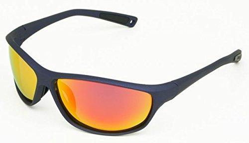 Body Glove FL 22 Smoke with Red Mirror Sunglasses, Rubberized Navy - Sunglasses Bodyglove