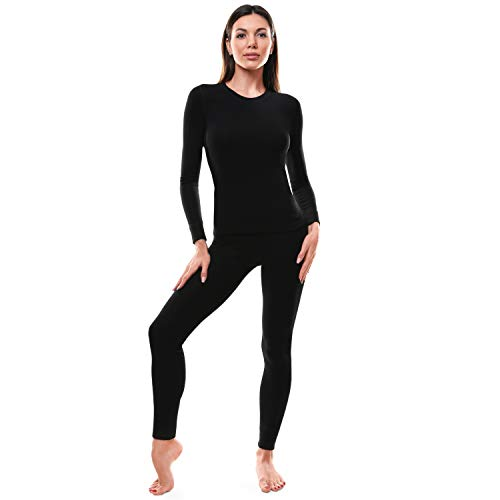 Emprella Thermal Underwear for Women, Ultra Soft Long Johns Womens Set Base Layer Clothes