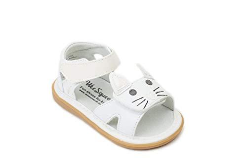 Wee Squeak Kitty White Sandal Toddler Squeaky Shoe Size 4