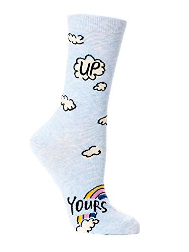 Blue Q Socks, Women's Crew, Up Yours,Women's Shoe Size 5-10 from Blue Q
