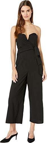 (ASTR the label Women's Zion Strapless Wide Leg Jumpsuit, Black, S)