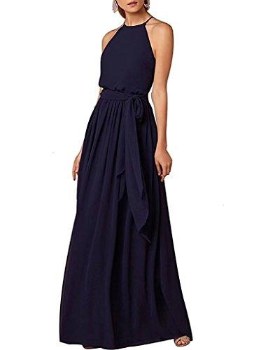 Hals Marine Abiball Hoher Abschlussball Brautjungfern 124 Ball Kleider Elegant Abendkleider Lange qvXwtp