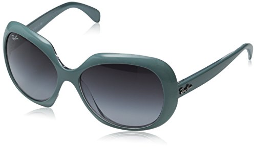 Ray-Ban INJECTED WOMAN SUNGLASS - TOP GREEN ON TRANSPARENT Frame GREY GRADIENT Lenses 55mm - Ii Ohh Jackie