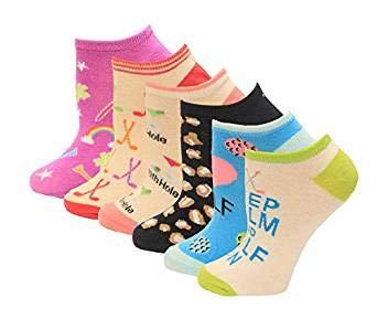 K. Bell Lucky Golf Socks Six Pair Pack Socks 1 Pair, Purple Assorted, Women's Size: 7-8.5 (Golf Bell K Socks)