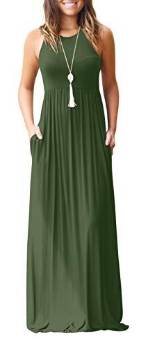 Women's Summer Sleeveless Maternity Long Casual Maxi Sundress ()