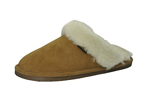 Eurow Sheepskin Women's Hardsole Scuff Slipper - Size 7 (Moccasin Sheepskin Hardsole)