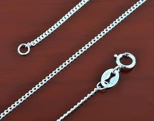 Ddang - 925 Sterling Silver Herringbone Flat Curb Chain Necklace Length:14 inch -35cm -1.5g JEW 0221