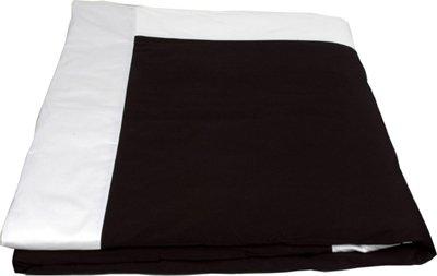 "J-Life Authentic Traditional Japanese Kakefuton (Kakebuton) Silk-Filled Comforter - Single Size (66"" x 92"") - Black Ultra Sateen"