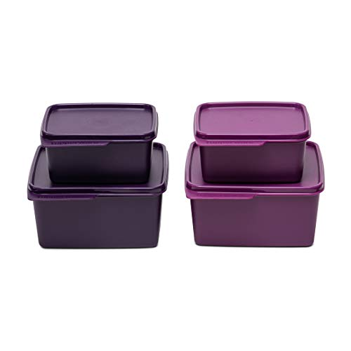 Tupperware Square Refrigerator Container Keep Tab 520ml, 1.2L 2pc Each Price & Reviews