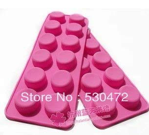 Silicone Cake Mold - Wholesale Retail 12hole Small Round Shape Capsule Silicone Cake Mold Chocolate Molds - Assorted Truck Trays Lips Purse Turtles Basket Frog Paint Dinosaur Thr ()