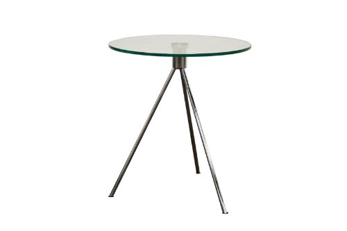 Triplet Round Glass Top End Table with Tripod Base (Unfinished Metal Table Coffee)