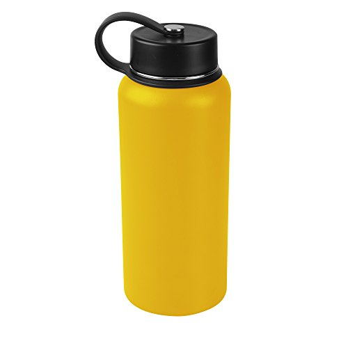 Tahoe Trails 32 oz Double Wall Vacuum Insulated Stainless Steel Water Bottle, Cyber -