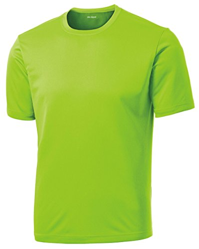(Dri-Equip Youth Athletic All Sport Training Tee Shirt,S-Lime Shock )