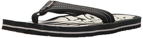 Image of Reef Boys' GROM Skeleton Sandal, Grey, 13-1 Youth US Little Kid