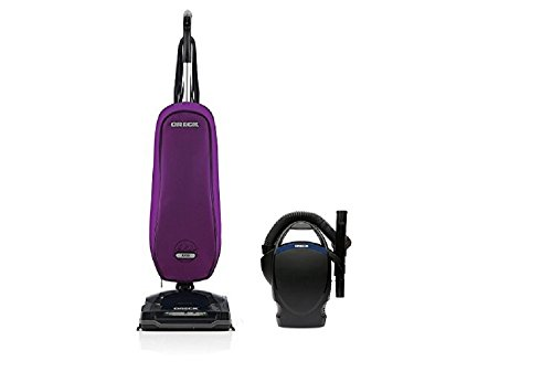 Oreck Axis Upright Lightweight Vacuum Cleaner - Purple Power Bundle with Oreck CC1600 Handheld Vac