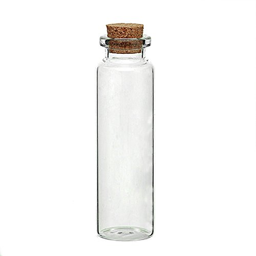 Glass Bottles Jewelry Vial Cork Stoppers Cylinder