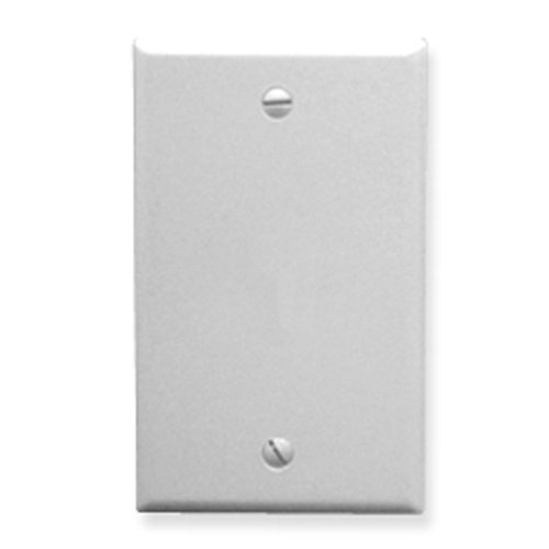ICC Flush Wall Plate Blank White (1h Flush)