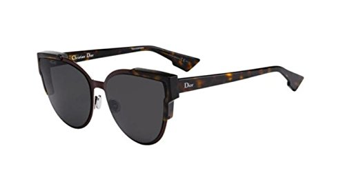 New Christian Dior WILDLY DIOR P7L/Y1 dark havana burgundy/grey Sunglasses - New Dior Glasses