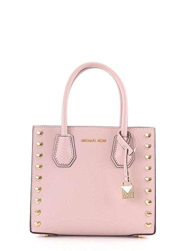 MICHAEL Michael Kors Women's Mercer Messenger, Soft Pink, One Size by MICHAEL Michael Kors