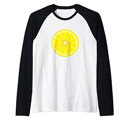 Yellow Lemon Costume Shirt Matching Halloween Costume Shirts Raglan Baseball Tee]()