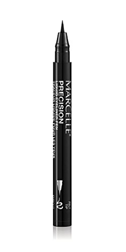 Marcelle Precision Liquid Eyeliner Pen, Intense Black, Hypoallergenic and Fragrance-Free, 0.04 fl oz (Best Hypoallergenic Liquid Eyeliner)