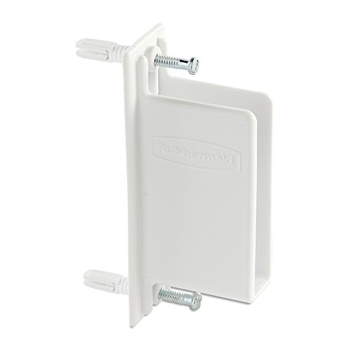 Rubbermaid Direct Mount Non-Adjustable Free Slide Wall Bracket, White (FG3D68LWWHT) ()