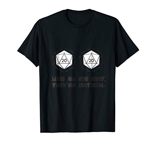 All Natural D20's Funny Tabletop RPG Shirt