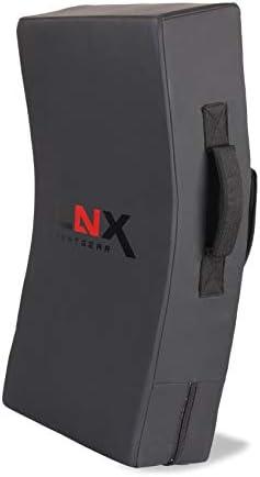 LNX Stoßkissen Pratze Performance Pro gebogen - Mattschwarz Ultimatte Black XL Schlagpolster Stoßkissen Pratze für Kickbox- Muay Thai Training usw. 70cm