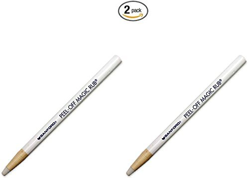 - Cardscan San-74201 Sanford Peel-off Magic Rub Eraser - Artwork Eraser - 2 Each - Beige by CardScan