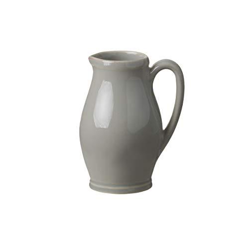 Casafina Stoneware Ceramic Dish Fontana Collection Creamer Small Pitcher, 11.5 oz (Dove -