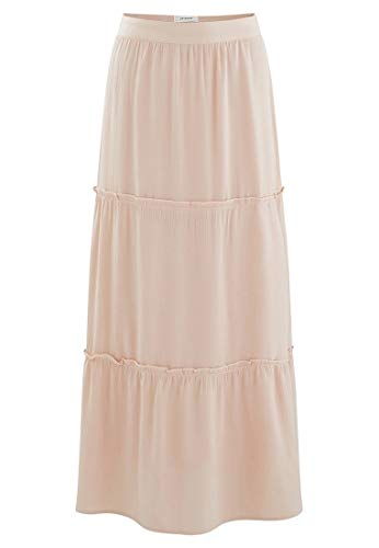 Promod Longue jupe volante Femme Rose Pale