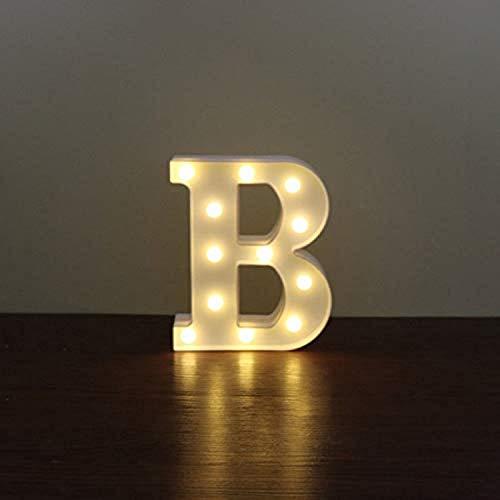 LED Alphabet Letter Lights, Decorative Warm Plastic Light up Letters, Alphabet Letters for Birthday Wedding Halloween Party Bar Bedroom Wall Hanging Decor- ()