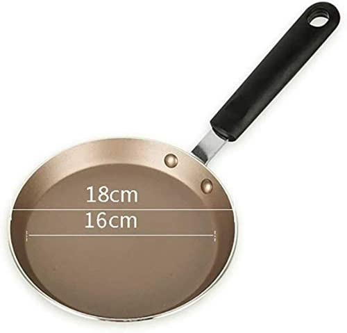 DXDUI Pots, Casseroles Accueil Pan, Facile Crêpes Omelette Œufs Frits Tortilla Pain Crepes, Non Bâton Pancake Pan, Aluminium