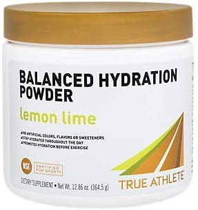 True Athlete Balanced Hydration Powder, Lemon Lime Flavor, Promotes Hydration Before Exercise, Easy to Mix, NSF Certified for Sport 12.86 Ounces Powder