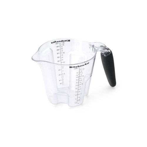 KitchenAid Easy View Plastic Measuring Cup, Black
