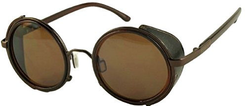 Men's & Women's Steampunk Round Cyber Goggles - Glasses Emo Frames