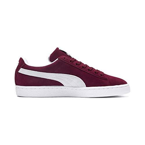 Sneaker Suede Puma Casual white Classic Herren Emboss Cabernet dIz1ww