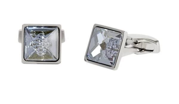a8759f4237e69 Amazon.com: Simon Carter Mens Bubble Cufflinks - Blue: Jewelry