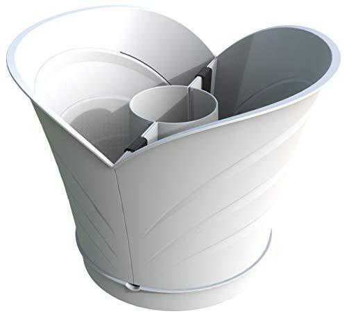 - Versatile Tulip Design Wrap Around Post Planter (Gray)