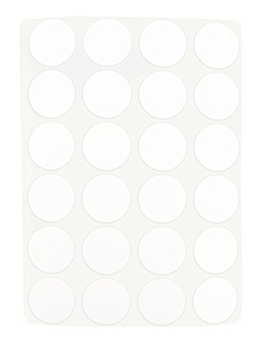 """3/4"""" White Color Coding Dot Labels on Sheets 