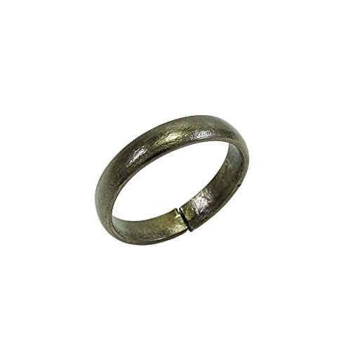 Banithani Handcrafted Indian Pure Iron Ring Saturn Shani Black Challa Fashion Jewelry Photo #4