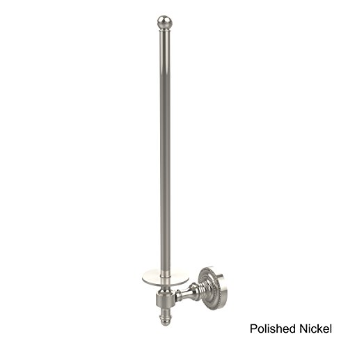 Allied Brass RD-24U/12-PNI Retro Dot Collection Wall Mounted Paper Towel Holder, Polished Nickel - Nickel Polished Holder