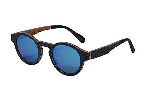 Handmade Wood Frame Sunglasses Retro Vintage Wooden Glass...